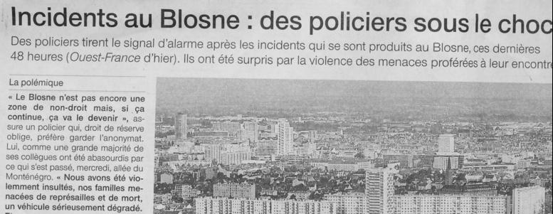 incidents blosne