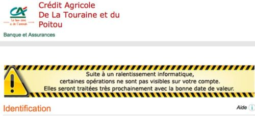 incident credit agricole decembre 2013