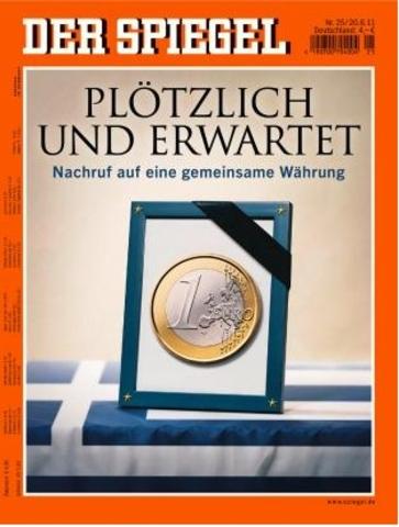 der Spiegel l'euro est mort