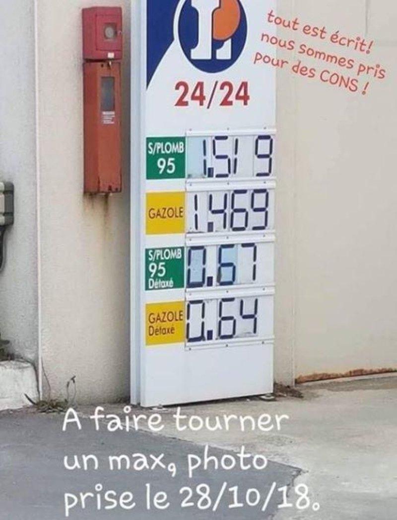 taxe essence 2018