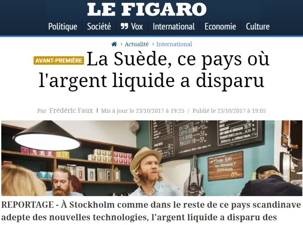 figaro suppression de l'argent liquide