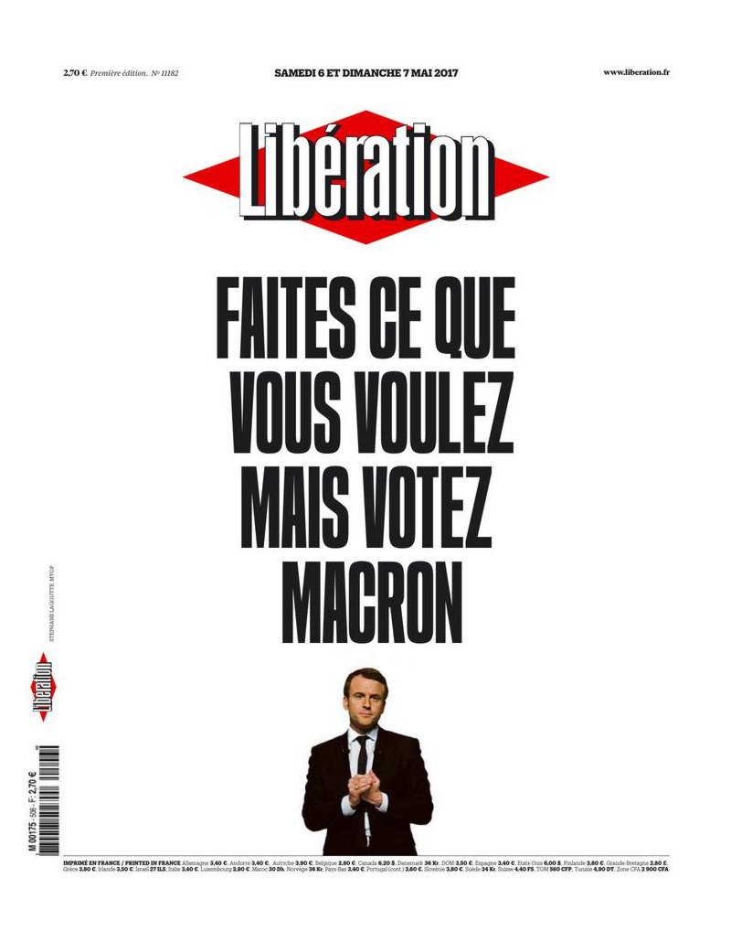 liberation 6 mai 2017 votez macron