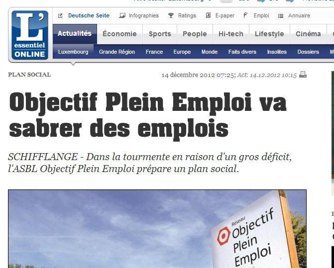 Les mégas plans de licenciements 2013 attention les yeux dans LES INFOS LIBRE plein-emploi