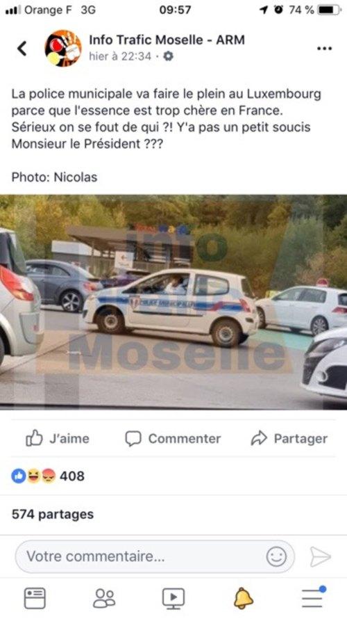 la police municipale francaise  fait le plein au luxembourg