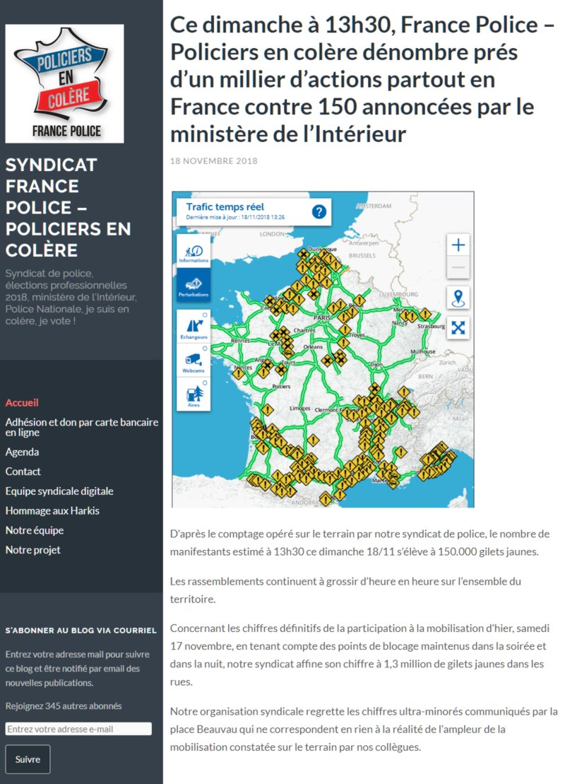 syndicat france police 2018