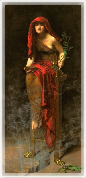 la pretresse Oracle de delphes de john collier